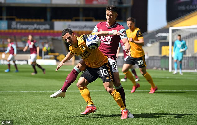 A fire alarm reportedly went off in Stockley Park shortly before Wolves and Burnley took off
